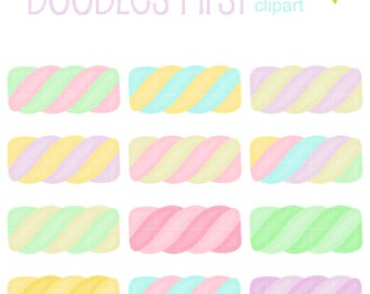Marshmallow Twists Digital Clip Art for Scrapbooking Card Making Cupcake Toppers Paper Crafts