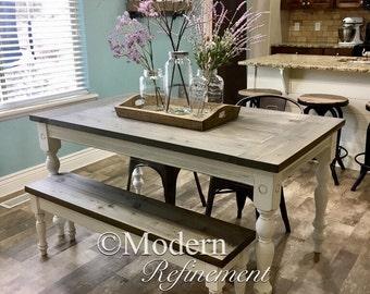 Gorgeous Handmade Rustic Farmhouse Table, Dinning Table.