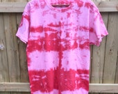 Unisex Tie Dye T-shirt Shirt Shibori Tumblr Pastel Grunge Men Woman Red Pink Boho Hippie Chic by The Wild Willows