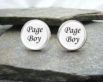 Page Boy Cufflinks, personalized cufflinks