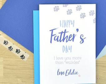 From dog Father's day card, personalised from the dog Fathers day card