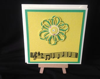 Happy Birthday Song Card - Bright Floral