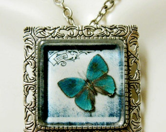 Butterfly convertible pendant or brooch with chain - WAP35-010