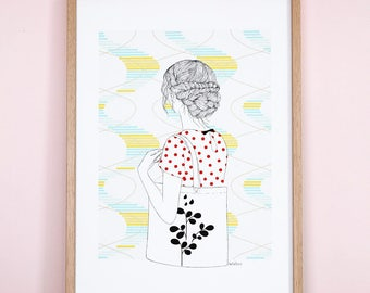 Personnal Use - illustration printed on Fine art paper AkabéParis