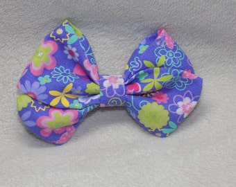 "Purple Floral ""Madi"" Bow"