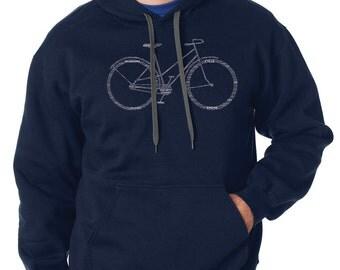 Bicycle Parts Hoodie Bike Biker BMX Hoodie Hooded Sweatshirt Sweater