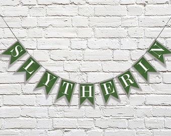 SLYTHERIN House Banner | Hogwarts School | Harry Potter Inspired | Party Banner