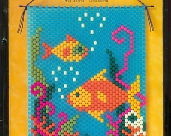 """Tropical Fish Lovers DIY Beaded Banner Kit 9-3/4"""" x 14-3/4"""" - The Beadery Craft Products Kit 5455"""