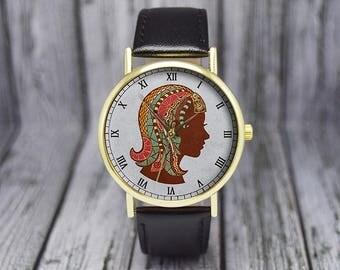 Virgo Watch | Zodiac Sign Watch | Leather Watch | Ladies Watch | Gift for Her | Women's Watch | Birthday | Wedding | Gift Ideas