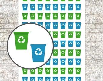Recycling Bins Sticker Set ~ Recycle