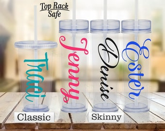 Custom Tumbler - Customized Tumbler - Custom Cup - Customized Cup - Clear Custom Travel Mug - Custom Mug - Double Walled - Bridesmaids Gifts