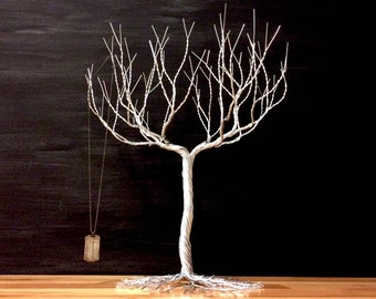 Super Dense Jewelry Tree Stand , wire tree sculpture , necklace display #18