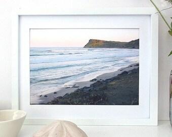 Beach Art, Soothing Art, Sunset Art, Australian Wall Art, Printable Art, Landscape Wall Art, Beach Print, A4, Downloadable Art, Horizontal