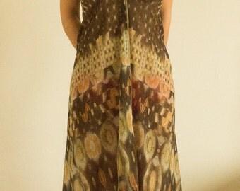 Silk sleeveless fancy dress