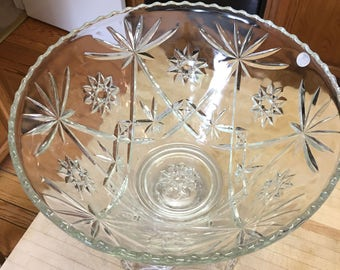Vintage Punch Bowl with Stand