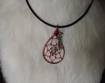 Wire wrapped Dreamcatcher Necklace