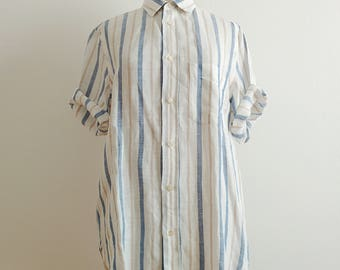 Hilton stripes linen shirt blouse