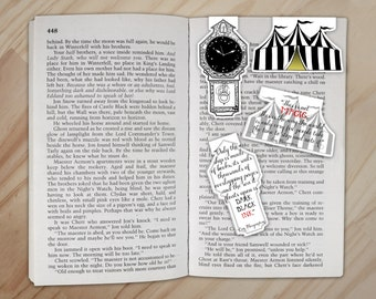 Night Circus Bookmark Set - Tent and Clock Clips
