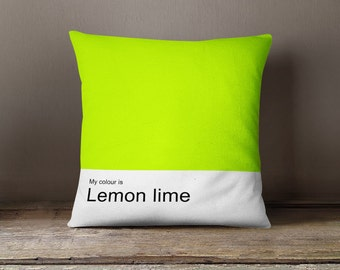 My colour is Lemon lime, decorative pillow cover, graphic pillow, geometric pillow cover, designer pillow,living room decor, woman pillow
