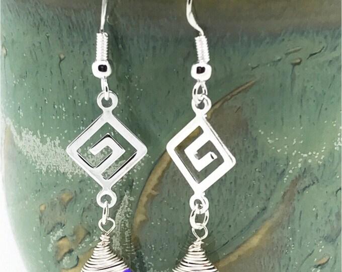 cobalt purple crystals earrings, purple blue Swarovski earrings, blue cobalt earrings, violet purple, shiny purple earrings