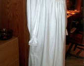 Ladies Victorian white flannel nightgown with pintucks and lace
