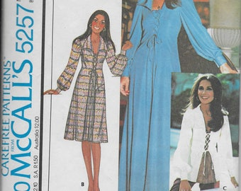 McCall's 5257 Pattern for Marlo's Corner Misses' Dress or Top