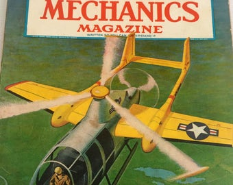 Vintage 1954 Popular Mechanics Magazine