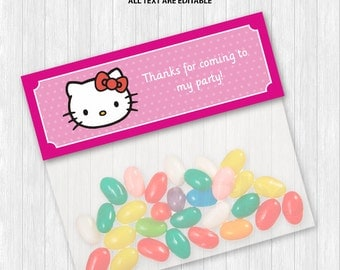 Hello Kitty Treat Bag Toppers