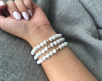White Marble Bracelet