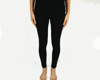 Women's ultra soft bamboo leggings, black leggings with comfort waistband for ladies, women's clothing, ready to ship