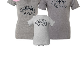Matching Shirts Mommy and Me Outfit, Mama Bear Shirt, Baby Bear Shirt, New Mom Gift, Mommy and Daddy Shirts, Mother's Day Gifts