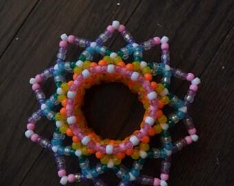3D rainbow kandi cuff