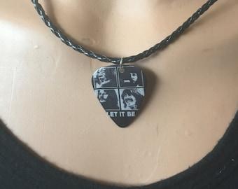 Items similar to Justin bieber guitar pick necklace/justin ...  Items similar t...
