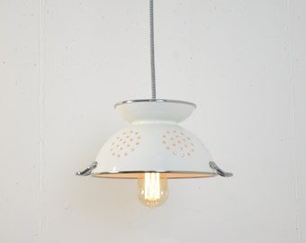 Colander Pendant Light Fixture Kitchen Island Pantry Industrial Handmade