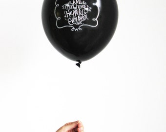 Chalk Lettered HAPPILY EVER AFTER Balloons