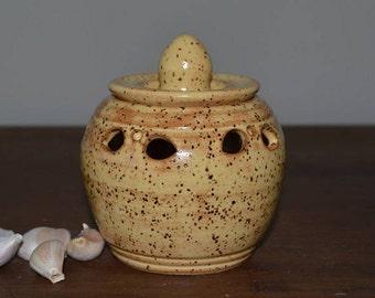 garlic jar, garlic keeper, kitchen storage, potpourri jar, votive candle, candle holder, tea light
