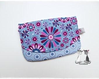 Blue - flowers - flowers - grey blue pink - pink grey blue