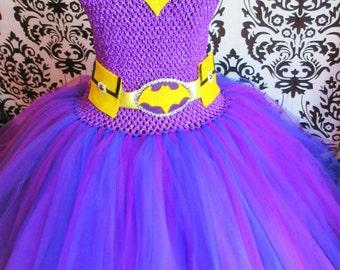 Purple Batgirl Costume/Vintage Batgirl/Batgirl Dress/Vintage Batgirl Cosplay/Bombshell Cosplay/Halloween Batgirl/Adult Batgirl tutu dresses