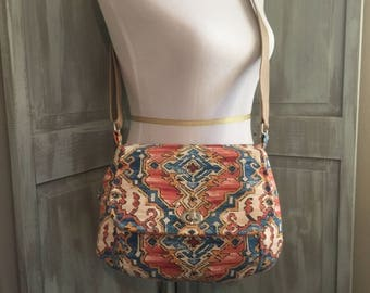 Concealed Carry Saddle Bag, Southwest Inspired with an Adjustable Strap and 4 Pockets, Right Hand Carry