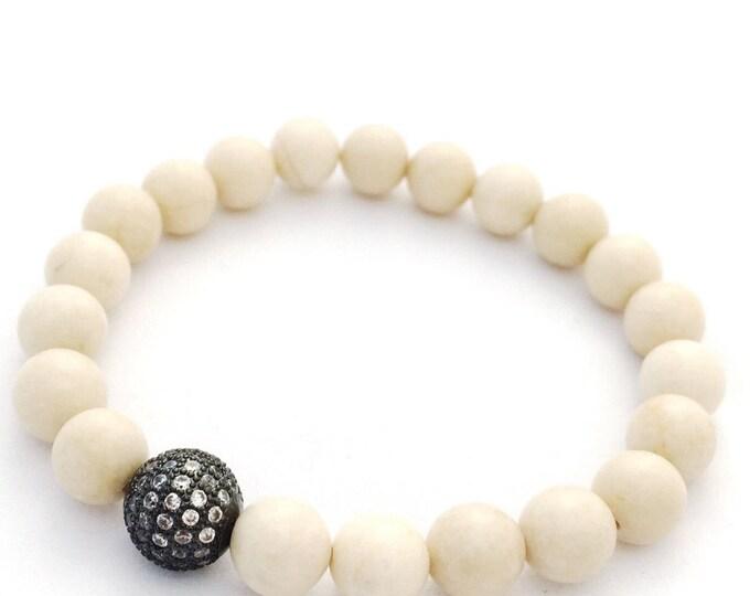 Fossil Bracelet- Fossil Stone Bracelet- Fossil Beaded Bracelet- Stone Bracelet for Motivation-  Gift for Men- Graduation Gift- Gift for Her