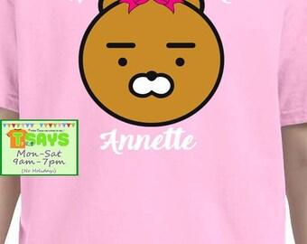 Birthday girl with teddy bear, personalized shirt, birthday shirt