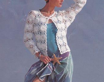 Womens crochet jacket pdf pattern cardigan motif jacket INSTANT download pattern only pdf