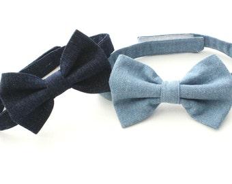 Denim Baby Boys Bow Tie,  Bowties, Boys Bow Tie, chanbray bow tie, Pick one