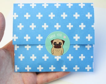 Thank you Sticker pug- cute - kawaii - vinyl glossy