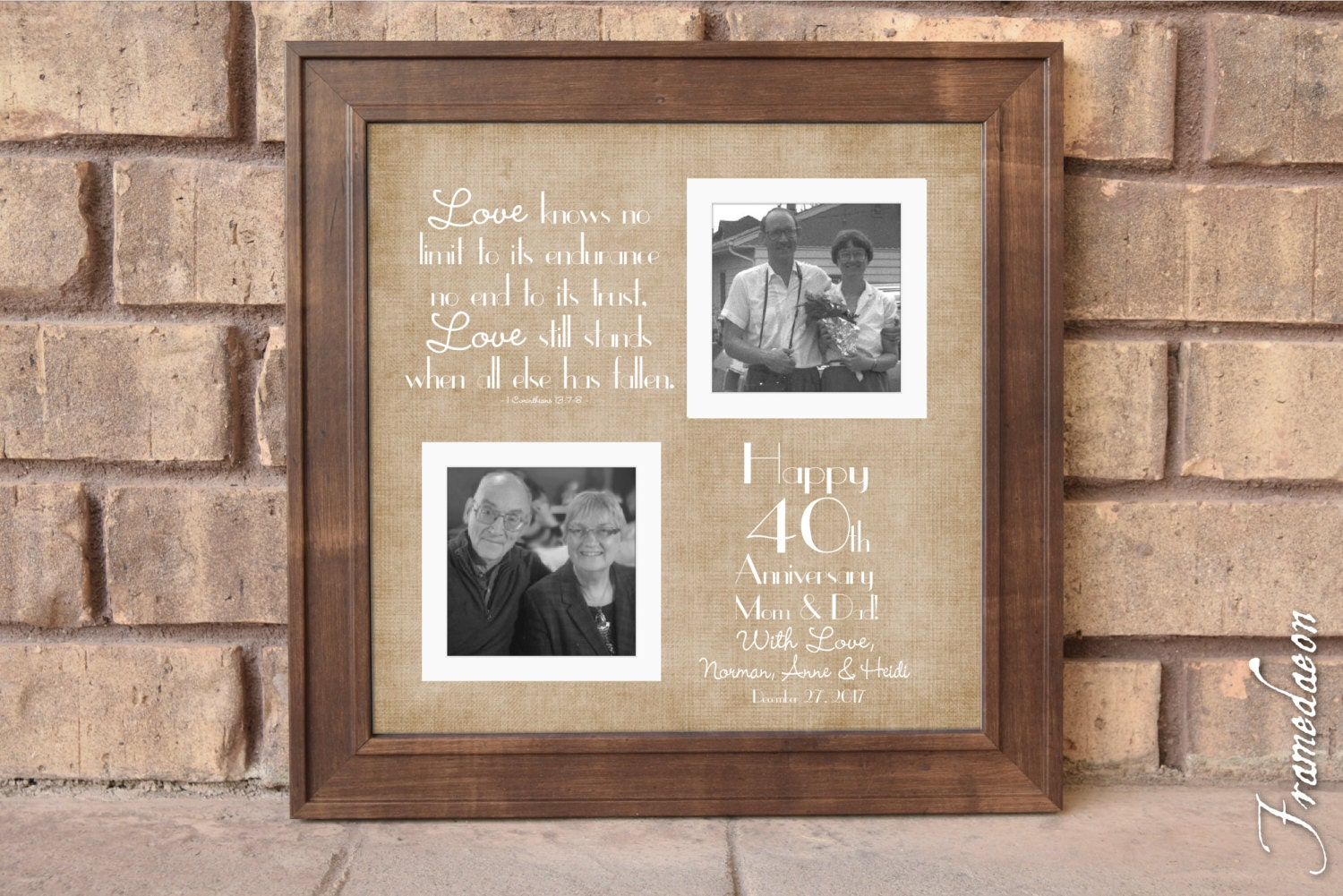 What Is The Traditional Gift For A 40th Wedding Anniversary: 40th Wedding Anniversary Gift Anniversary Gift For Mom Dad