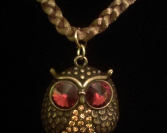 Autumn Owl Necklace
