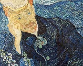 Van Gogh-Vincent Van Gogh-Art-Portrait-Doctor Gachet-Vintage-Postcard-Post Impressonist-Home decor