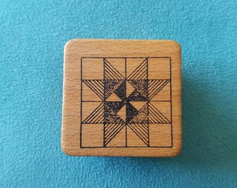 Comotion - Quilt Square - Rubber Stamp