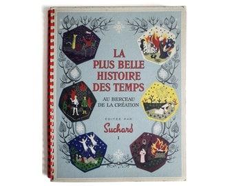 """Album Chocolat Suchard La Plus Belle Histoire des Temps """"Au Berceau de la Création"""" - 1955, Album Vignette à Collectionner"""
