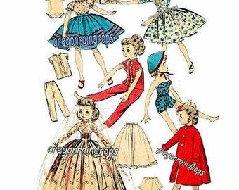 Little Miss Revlon Vintage 1950s Doll Clothes Pattern For Little Miss Revlon, Cissette, Jill, Toni PDF Instant Download ePattern